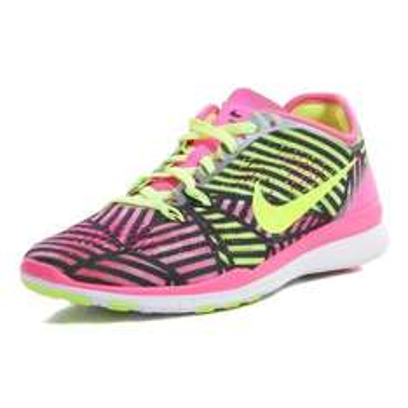Nike FREE 5.0 TR Fitnessschuhe Damen | schwarz-pink-gelb @VAOLA