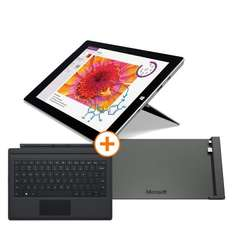 MS Surface 3 128GB + Type Cover 3 + Dockingstation für 749 € - ca. 22 % gespart