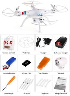 Quadrocopter Syma X8C Venture weiss 2,4 Ghz, HD Kamera, 6 Axis, 4 Kanal