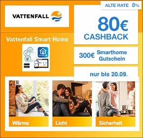 Vattenfall Natur24 Smart Home Tarif: 300€ Smart Home Gutschein+ 80€ Cashback