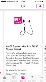 "50€ sparen"" Jabra Sport PULSE Wireless Headset"
