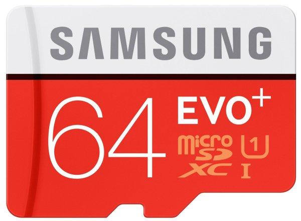 [Amazon.de-Blitzangebot] Samsung Speicherkarte MicroSDXC 64GB EVO Plus UHS-I Grade 1 Class 10 (bis zu 80MB/s lesen, bis zu 20MB/s schreiben) mit SD Adapter - 24,99 €