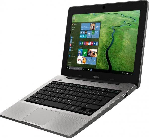 Medion S2218 Full HD IPS  64gb Flash 2GB Ram Win 10 Z3735 Lüfterlos 1,2kg 7-9h Akku 3 Jahre Garantie 239€