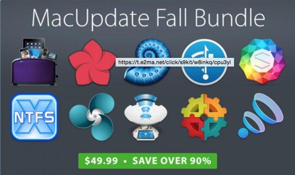 (MAC) MacUpdate Fall Bundle mit 13 Apps inkl. Toast und Paragon für nur 45€ – 90% gespart