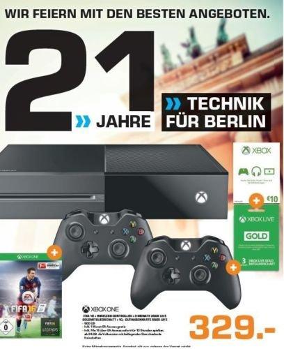 [EBAY] XBox One + Fifa 16 + 2.Controller + 3 Monate Gold für 329€