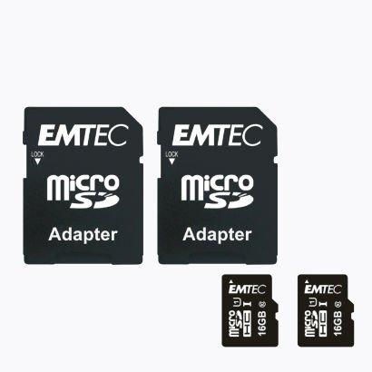 [Aldi Nord] 2x 16 GB Micro-SDHC Speicherkarte Class 10 UHS-I U1 + 2 SD-Adapter und 2 Schutzhüllen