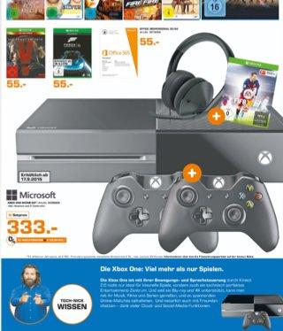 Xbox One + 2. Controller + Headset + Fifa 16 für 333€@ Saturn SB+Trier