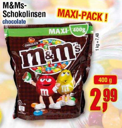 [CENTERSHOP NRW/RP] M&M's Maxipack 400g für 2,99€ = 0,75€/100g