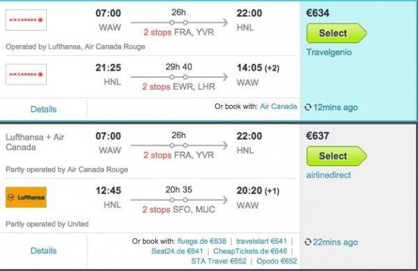 Flüge: Warschau  Honolulu ab 634€