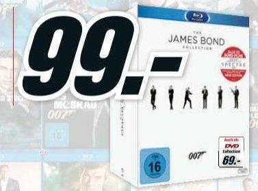 [Lokal Mediamarkt Neumarkt-Oberpfalz] James Bond BD Collection inkl. Leerplatz Spectre & Bonus Disc & 52-seitiges Booklet (24 Discs) [Blu-ray] für 99,-€
