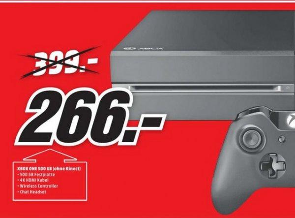(lokal Köln Marsdorf) Microsoft Xbox One 500GB für 266€ @ Mediamarkt