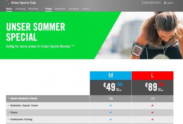 [urbansportsclub.com] Sportflatrate in Berlin, Hamburg und München - monatlich kündbar für 49€