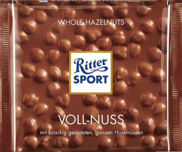 [ROSSMANN evtl. bundesweit] Green Label: Abverkauf Ritter Sport Voll-Nuss Schokolade (250 g) für 1,10 € bzw. 0,99 € (Green Label + 10% Rossmann Coupon)