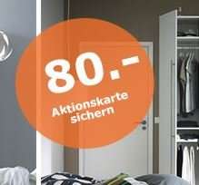 [IKEA-Family] 80 € IKEA-Gutschein für IKEA-Family Mitglieder beim Kauf eines Kleiderschranks > 600 €