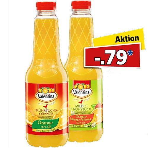 Valensina Orange, Orange-Mango-Ananas und weitere Sorten für nur 0,79 € am Samstag 26.9 bei [Lidl]