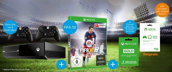 Xbox one 500GB + 2 Conroller + Fifa 16 (Saturn Karlsruhe) Nur am Freitag