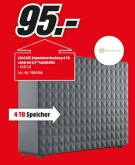 Seagate Expansion Desktop 4TB - 95€ [lokal MM Heilbronn]