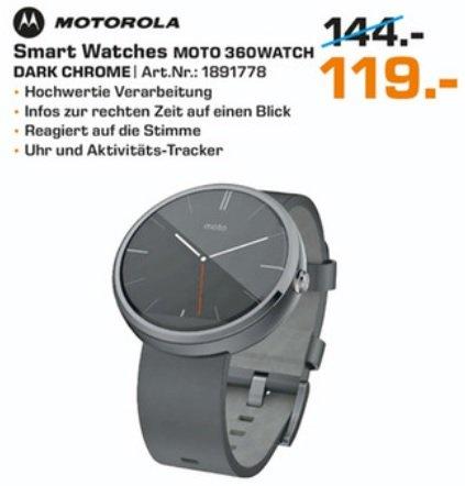 [Saturn Ludwigsburg] Smartwatch Moto 360 für 119 Euro und Samsung Gear S für 227 Euro