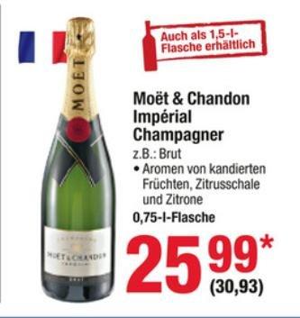 [METRO] Moet & Chandon Imperial Champagner für 30,93€ (25,99€)