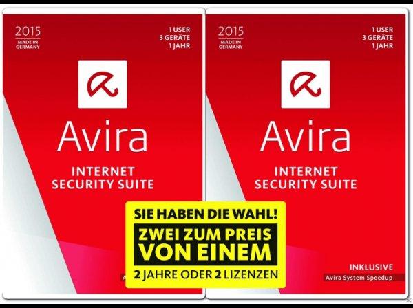 [MediaMarkt.de] Avira Internet Security Suite 2015 - 2 Jahre oder 2 Lizenzen - Sie haben die Wahl! (Schutz für 1 User, 3 Geräte für 1 Jahr)