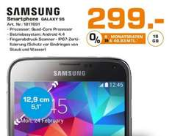 Samsung S5 16 GB bei Saturn Braunschweig