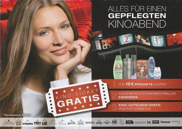 Für 10€ Schwarzkopf & Henkel-Produkte kaufen und Kino-Gutschein bekommen