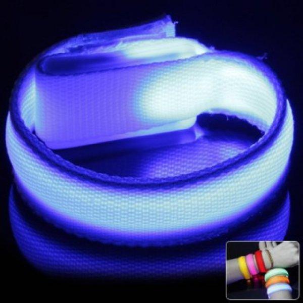 LED Stoffarmband mit austauschbarer Batterie für Sport , Kinder , Party, etc. @allbuy