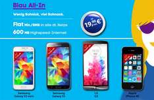 Samsung Galaxy S5 + Allnet + 600MB Internet Flat nur 19,99€ im Monat