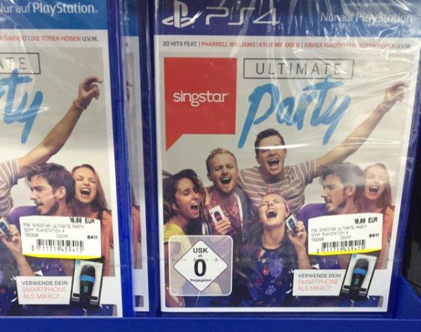 Singstar Ultimate Party für die PlayStation 4 PS4 lokal Mediamarkt Borsighallen Berlin