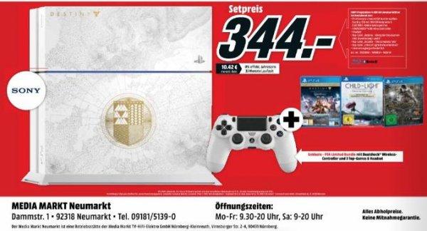 [lokal Neumarkt] Playstation 4 Destiny Edition 500GB mit 3 Spielen und 1 Controller für 344€