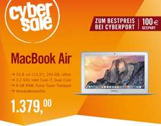 "Apple MacBook Air 13.3"" - Core i7-5650U, 8GB RAM, 256GB SSD [Early 2015] für 1.379€ bei Cyberport.de"