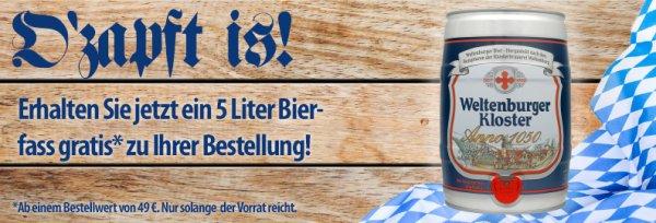 5 Liter Bierfass gratis zur Bestellung bei Voelkner (MBW 49€)