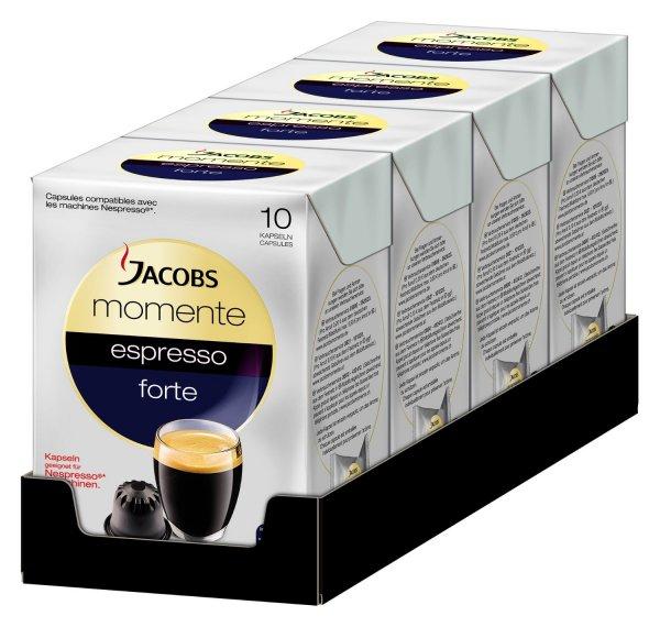 [Amazon.de-Prime-Sparabo]Jacobs Momente Espresso Kapseln Forte, Intensität 10, 4er Pack (4 x 53 g) ab 6,80€