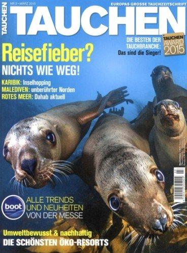 Jahresabo  der Zeitschrift Tauchen für 74,40€ mit 65,00€ Amazon-Gutschein – Effektivpreis: 9,40€