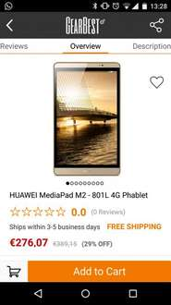 "Huawei MediaPad M2 8"" 4G 32GB @GearBest"