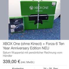 Xbox one 500GB mit Forza 6 339,- eBay Saturn