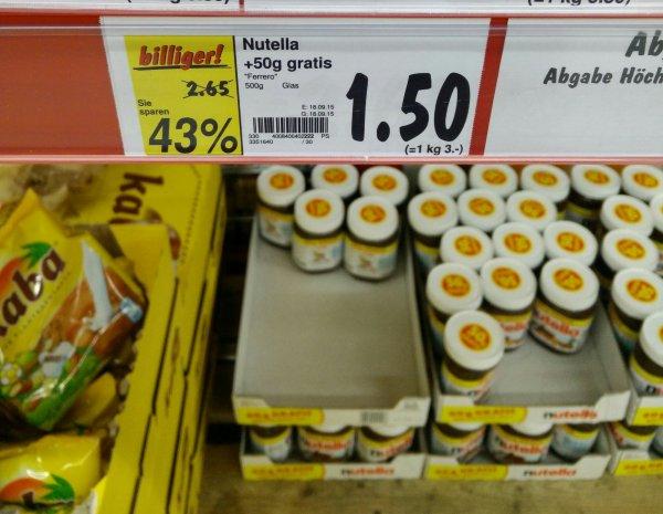 [Kaufland Worms] Nutella 500g Glas für 1.50€