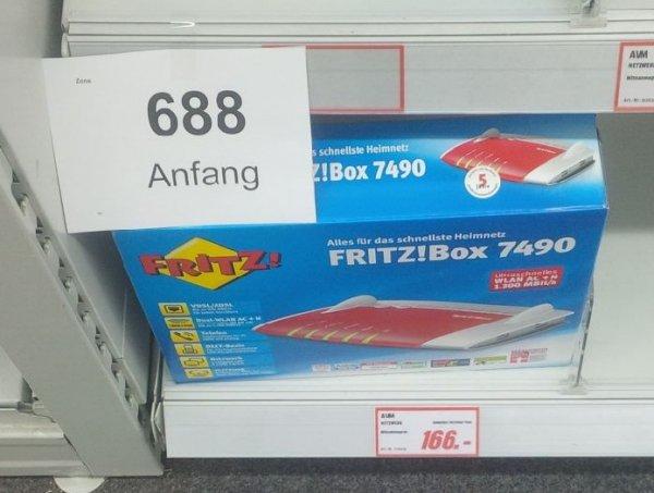 [Lokal] Mediamarkt Berlin Tempelhof AVM Fritzbox / Fritz!Box 7490 für 166€