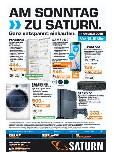 Saturn Hennef - Bose Soundlink Mini II 159€, Samsung S6 Edge 549€, PS4 333€, Samsung WW 80 H  7600 EW 599€ und Panasonic NR-BN 34 FX 1-E für 444€