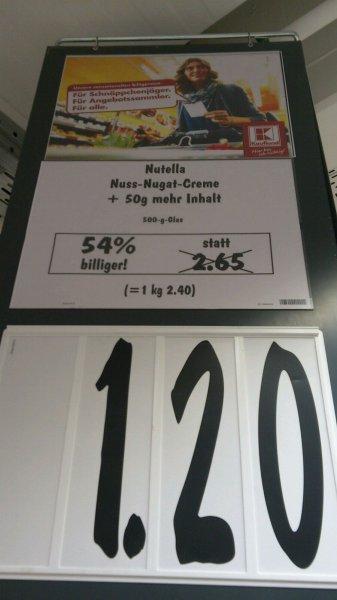 Kaufland Berlin Nutella 500g