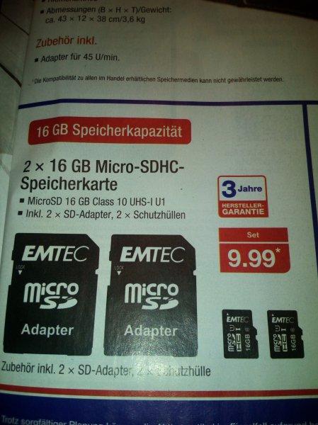 [Aldi Nord offline] 2 x 16 GB Micro SDHC