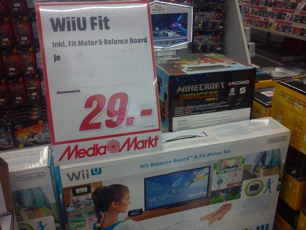 [Lokal] Media Markt Berlin Alexanderplatz Nintendo Wii Fit U + Fit Meter + Wii Balance Board für nur 29€