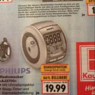 [Kaufland Hattingen] PHILIPS Radiowecker AJ3700 für 19,99€