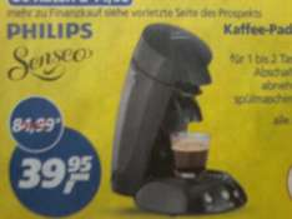 Philips Senseo padautomat  [[REAL]]     für 39,95€    (30% billiger)   OFFLINE