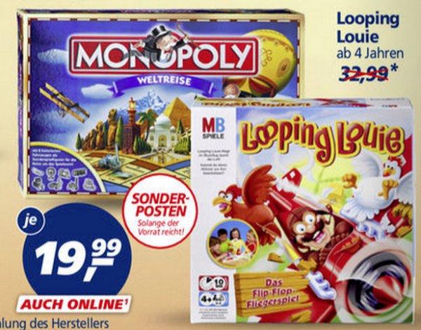 [REAL] Monopoly Weltreise für 15,99€ // Looping Louie für 15,99€ am 21.09.