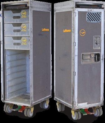 Lufthansa Trolley mit 3 Schubladen, gebraucht, Flughafen Köln Bonn