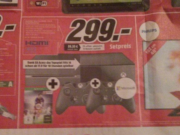 [Lokal Neumarkt Oberpfalz] Xbox One 500 GB, FIFA 16, 2 Controller