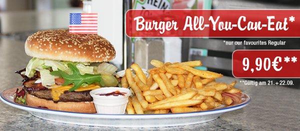 Burger - All You Can Eat, für nur 9,90 € bei Miss Pepper am 21.+22. September
