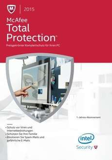 McAfee Total Protection 2015 - 1 User / 12 Monate, ESD (Download) (PC) - 12,80 Euro unter idealo