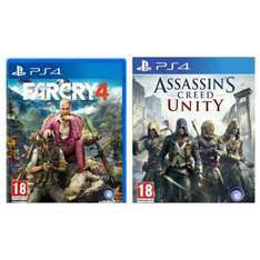 [HDGameShop.at] FarCry 4 [AT-Pegi] + Assassins Creed Unity für die PlayStation 4 für nur 34,99€ - Idealo ab 61,42€